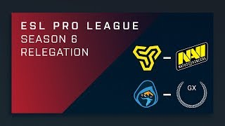 CS:GO - Space Soldiers vs. Na'Vi | Rogue vs. GX - ESL Pro League Season 6 Relegation