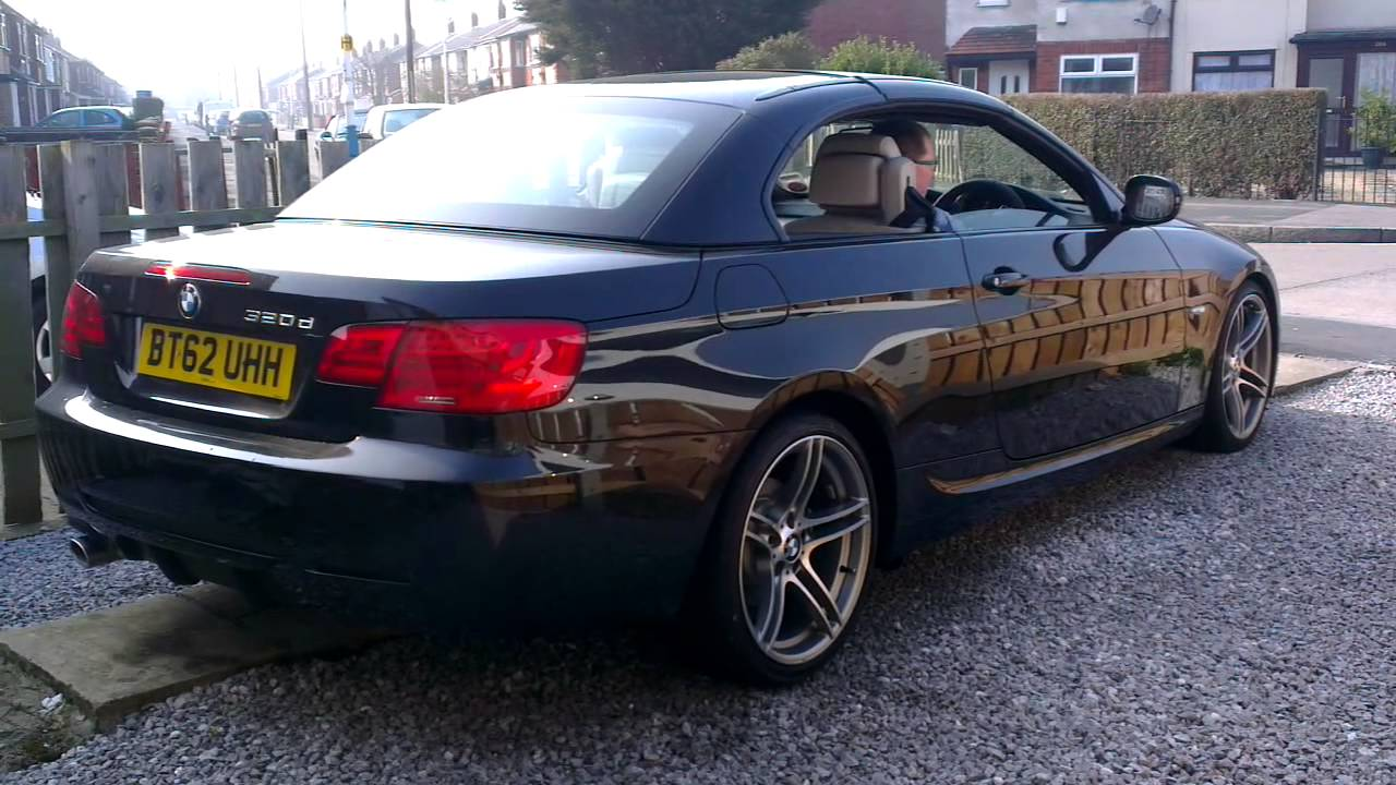 bmw 3 series convertible roof opening youtube. Black Bedroom Furniture Sets. Home Design Ideas