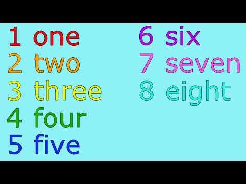 The Big Numbers Song урок английского языка 2 серия 2 урок