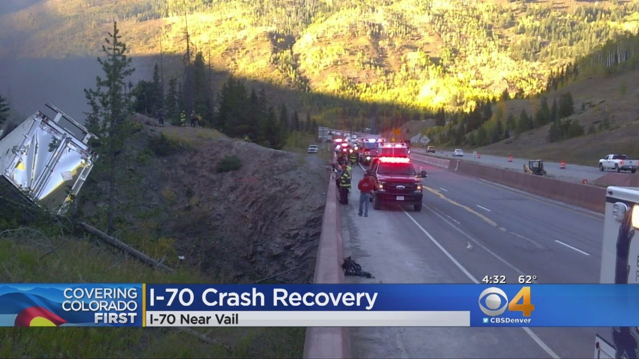 Deadly Crash Causes Fire, Closes I-70 At Vail Pass For Hours