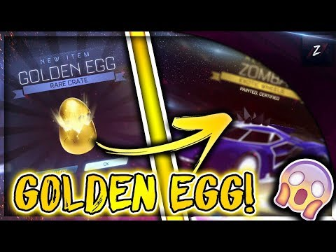 I OPENED A GOLDEN EGG AND GOT THIS STRIKER ITEM! | ROCKET LEAGUE GOLDEN EGG OPENING! thumbnail