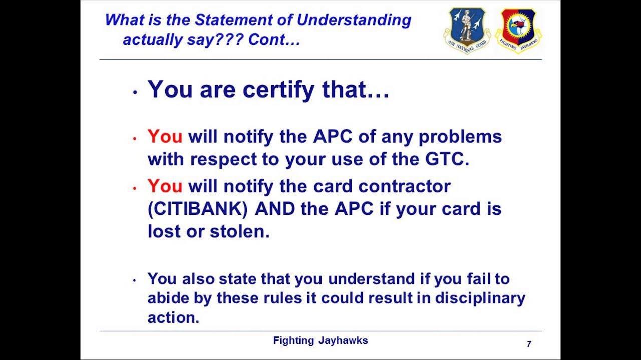 Gtc Travel Card Training