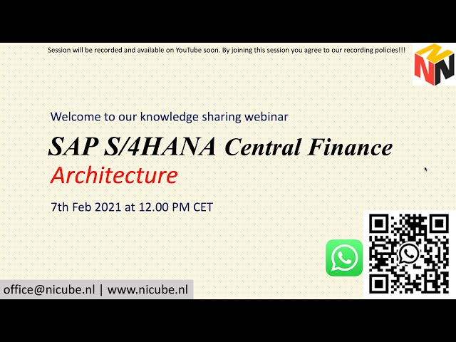 SAP Central Finance Architecture - Webinar