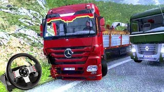 QUASE TIVE um ACIDENTE!!! (ÉPICO) - Euro Truck Simulator 2 + G27