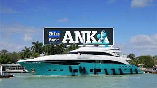 A Turquoise Princess | ANKA arrives at Yachts Miami Beach