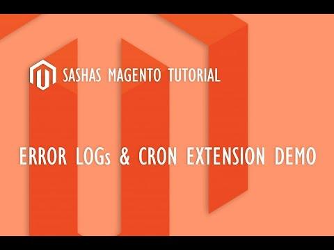 Magento Error Logs & Cron Extension Demo