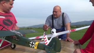 HobbyKing Hall Cherokee glider take off from petrol trolley