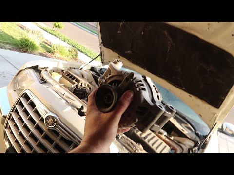 How to change alternator on chrysler 300, Charger, Magnum, Challenger with Hemi
