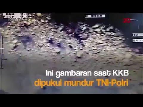 Pertempuran Bebaskan Sandera, TNI-Polri Sukses pukul mundur KKB papua (terlihat dari drone)
