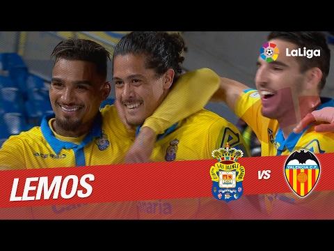 Golazo de Lemos (2-1) UD Las Palmas vs Valencia CF