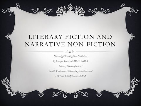 Literary Fiction and Non-Fiction Narrative Projects