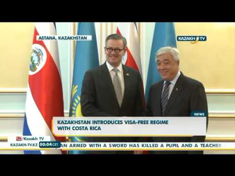Kazakhstan introduces visa-free regime with Costa Rica - Kazakh TV