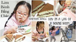 Nhật Ký Một Ngày Của Mẹ H & Donut ♥ Làm Bánh Bằng Chảo ♥ Day In A Life Of A Young Mom | mattalehang