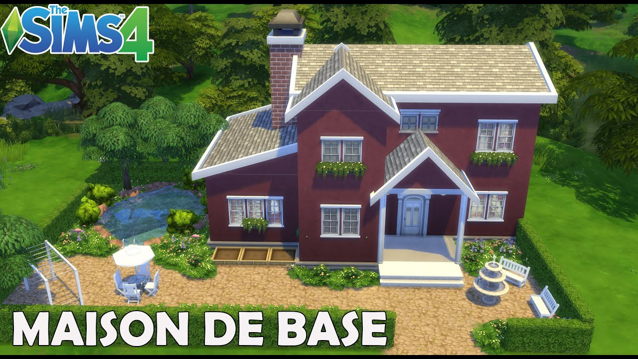 Les Sims 4 Maison 100 Jeu De Base Construction Youtube