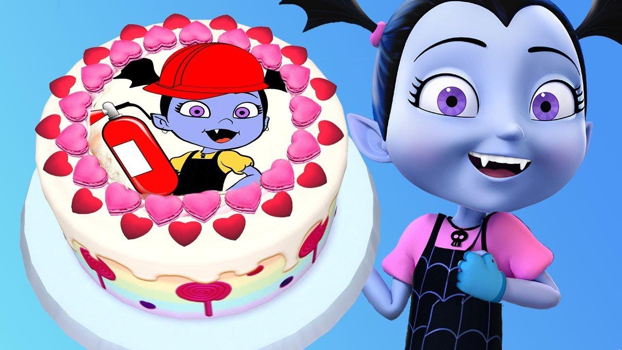 Vampirina Birthday Cake Baby Cooks Yummy Disney Junior Cake Real