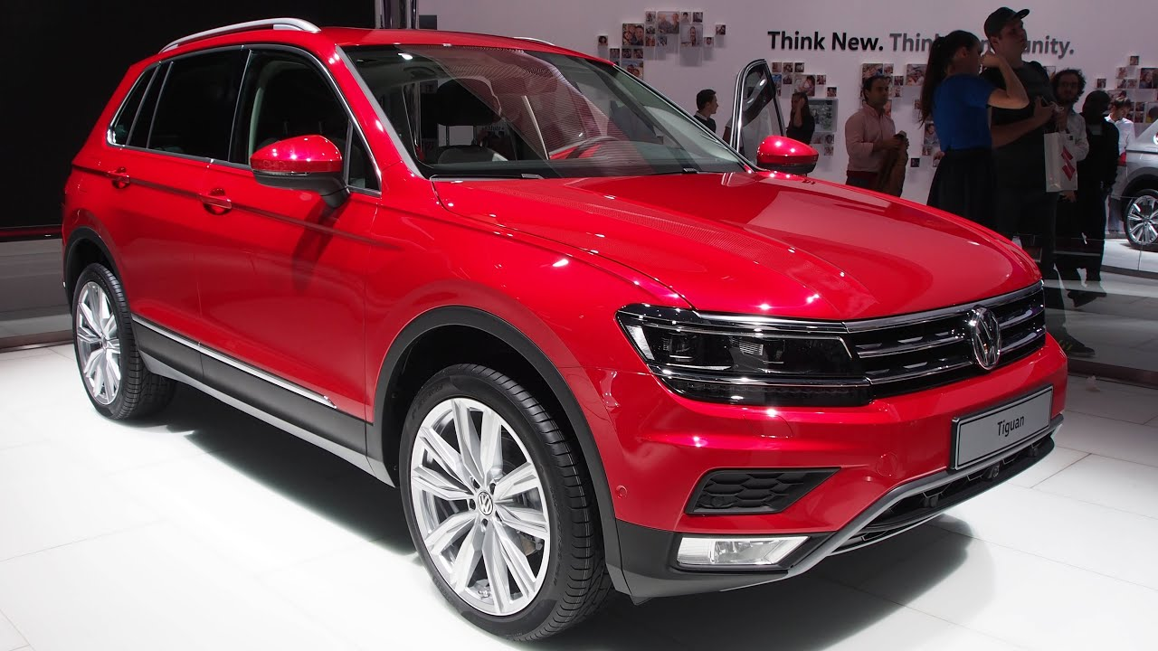 Vw Tiguan 2017 Interior >> 2016 Volkswagen Tiguan Red - Exterior and Interior Walkaround - YouTube