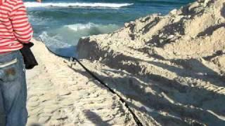 Подтягивание кабеля от корабля до берега(, 2010-03-13T22:52:51.000Z)