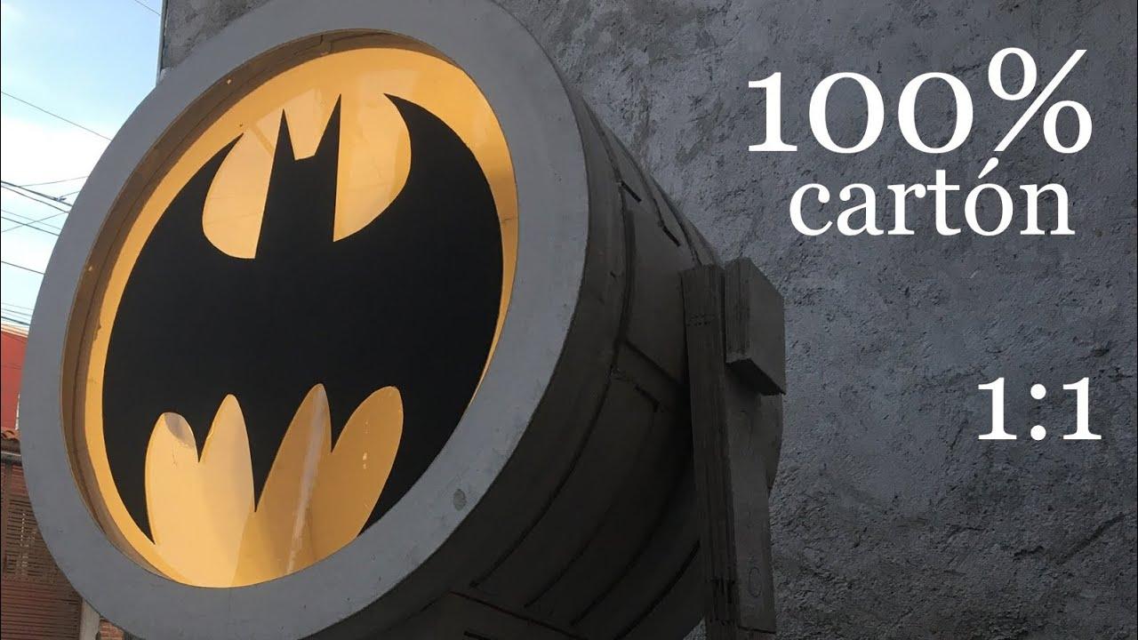 Batiseñal tamaño real, 100% cartón | escala 1:1 | DIY batsignal