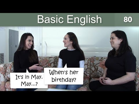 Lesson 80 ?????Basic English with Jennifer?? Birthdays & Using IN and ON