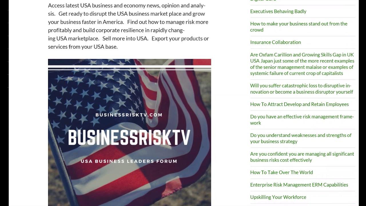 USA Online BusinessRiskTV Doing More Business In USA