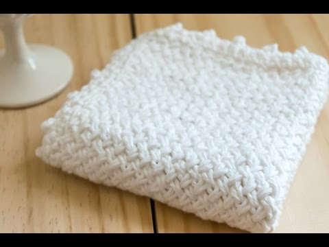 How To Diagonal Basket Weave Knit Washcloth Purl Side Youtube