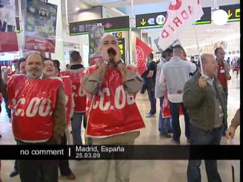 Strike in Madrids airport