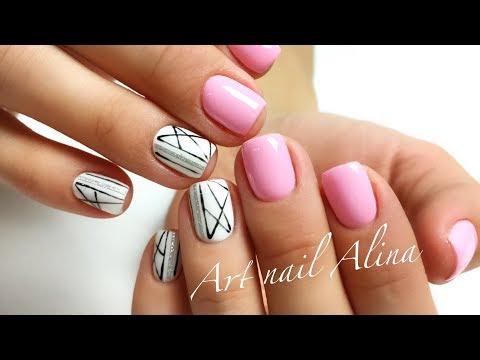 Как на ногтях сделать ровные полоски на ногтях