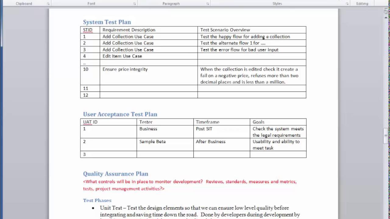 4 3 quality assurance plan youtube. Black Bedroom Furniture Sets. Home Design Ideas