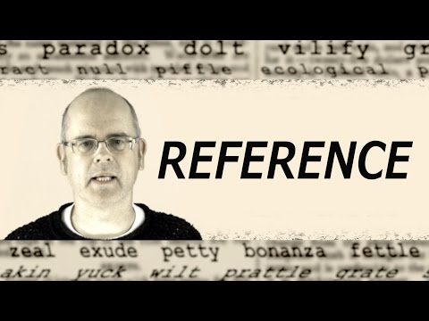 What does REFERENCE mean? English word definition