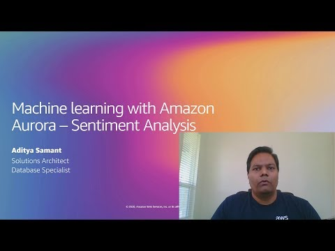 Sentiment Analysis using Aurora ML integration