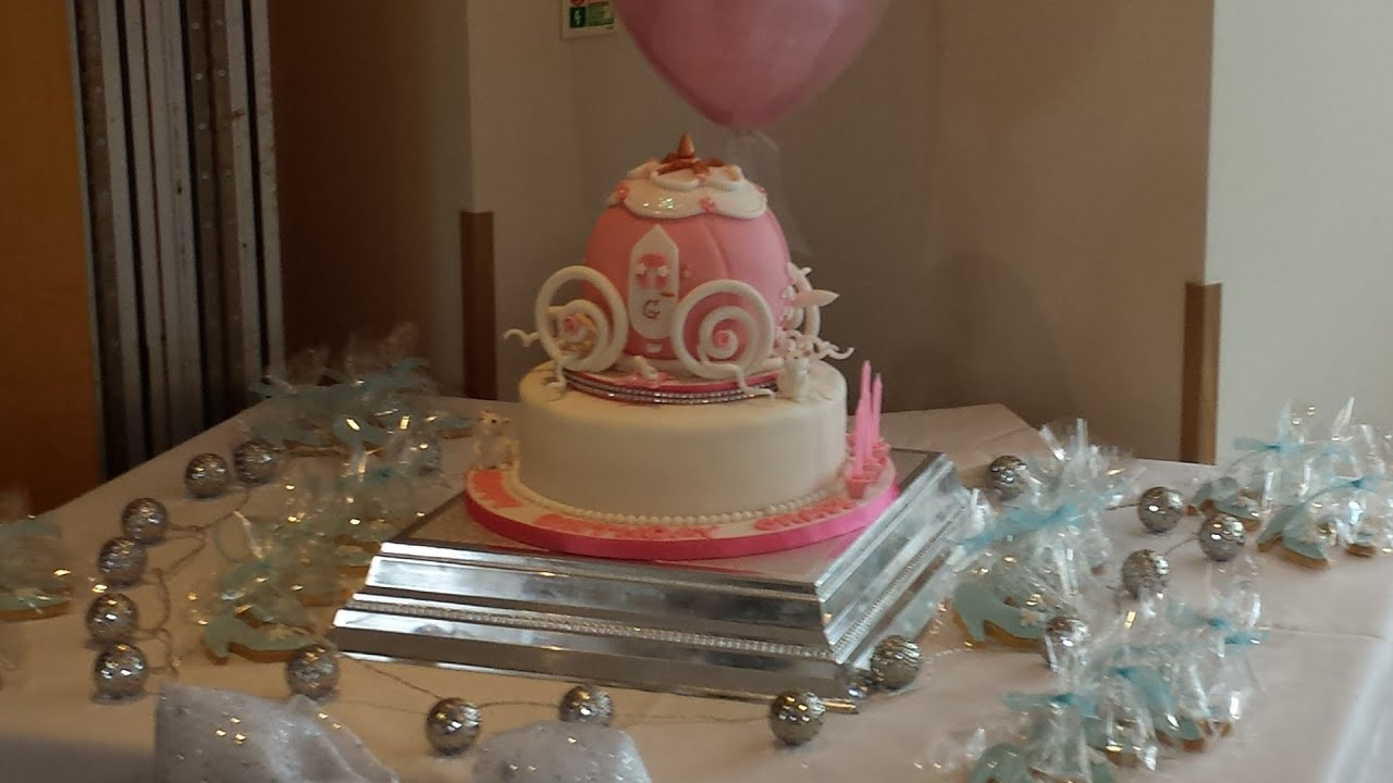 How to make a cinderella carriage cake easy sugarpastetv for How to build a carriage