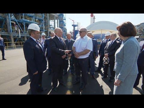Президент Беларуси Александр Лукашенко сегодня с рабочим визитом посетил Новополоцк