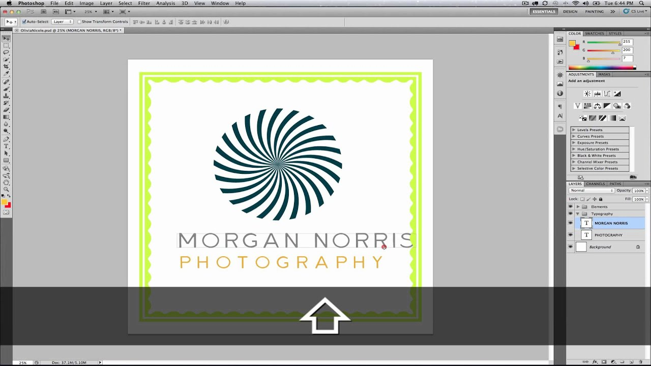 Editing Logo Templates in Photoshop