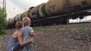 Поезд едет. Arrival of a Train. Part #1.