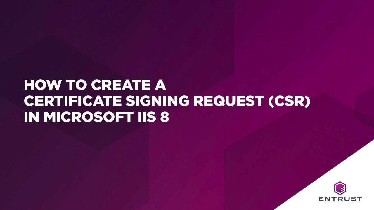How To Create A Certificate Signing Request Csr In Microsoft Iis 8