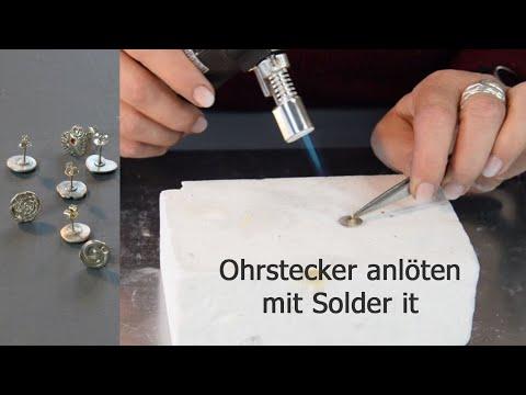 Wie Du Ohrstecker Mit Der Solder It Lötpaste Auf Metalclay Lötest - 2 Einfache Varianten