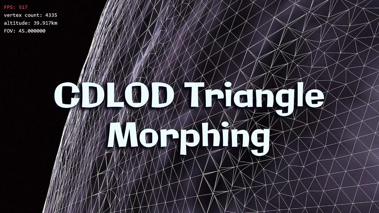 OpenGL Planet Rendering Demo 3 - triangle CDLOD morphing
