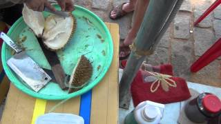 Вьетнам:дуриан разделывают (ч.2)