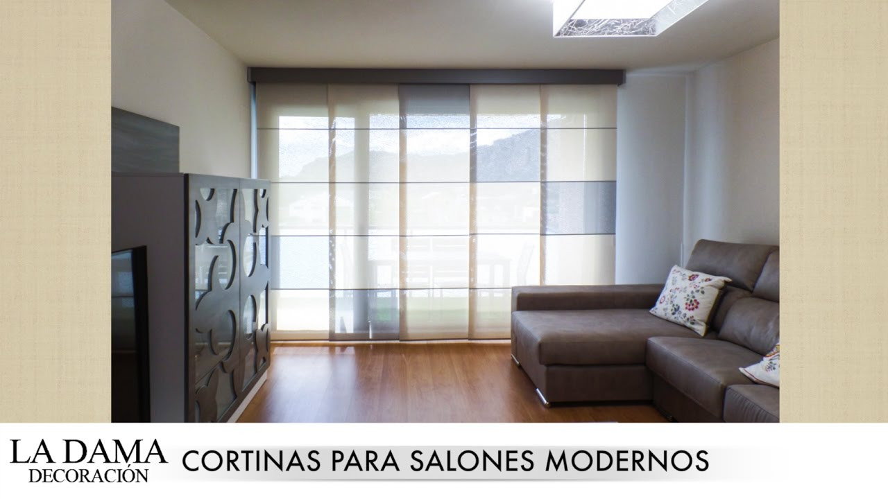 Cortinas para salones modernos youtube for Cortinas baratas para salon