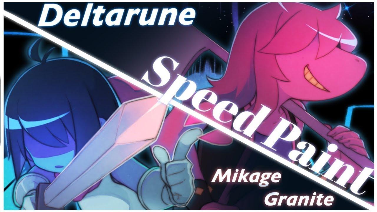 【SpeedPaint】イラストメイキング Deltarune Kris&Susie.