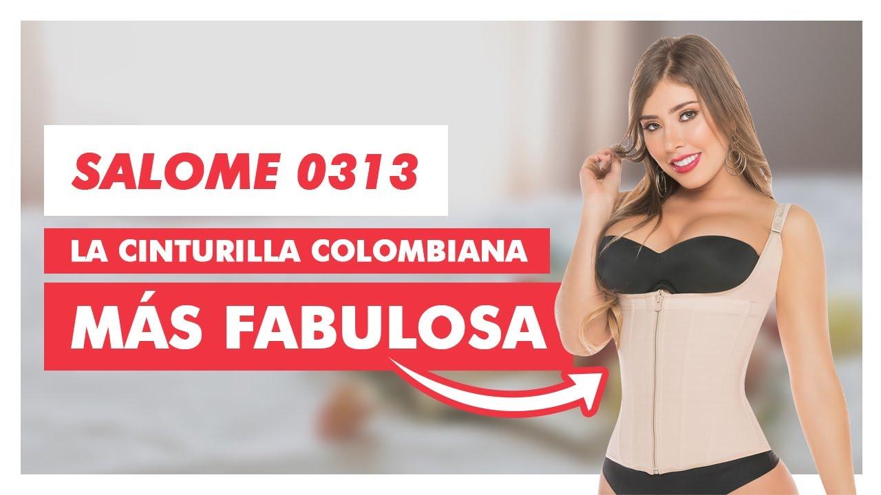 f317d510ee9 Faja Reductora Salome 0313 Moldea Cintura y Estraple de uso diario - YouTube