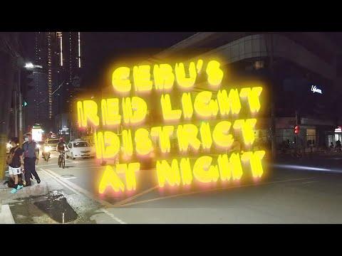 Cebu's Red Light District At Night. HD.