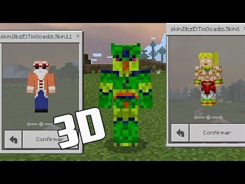 Minecraft PE : SKINPACK COM 32 SKINS DE DRAGON BALL Z ! (Minecraft Pocket Edition)