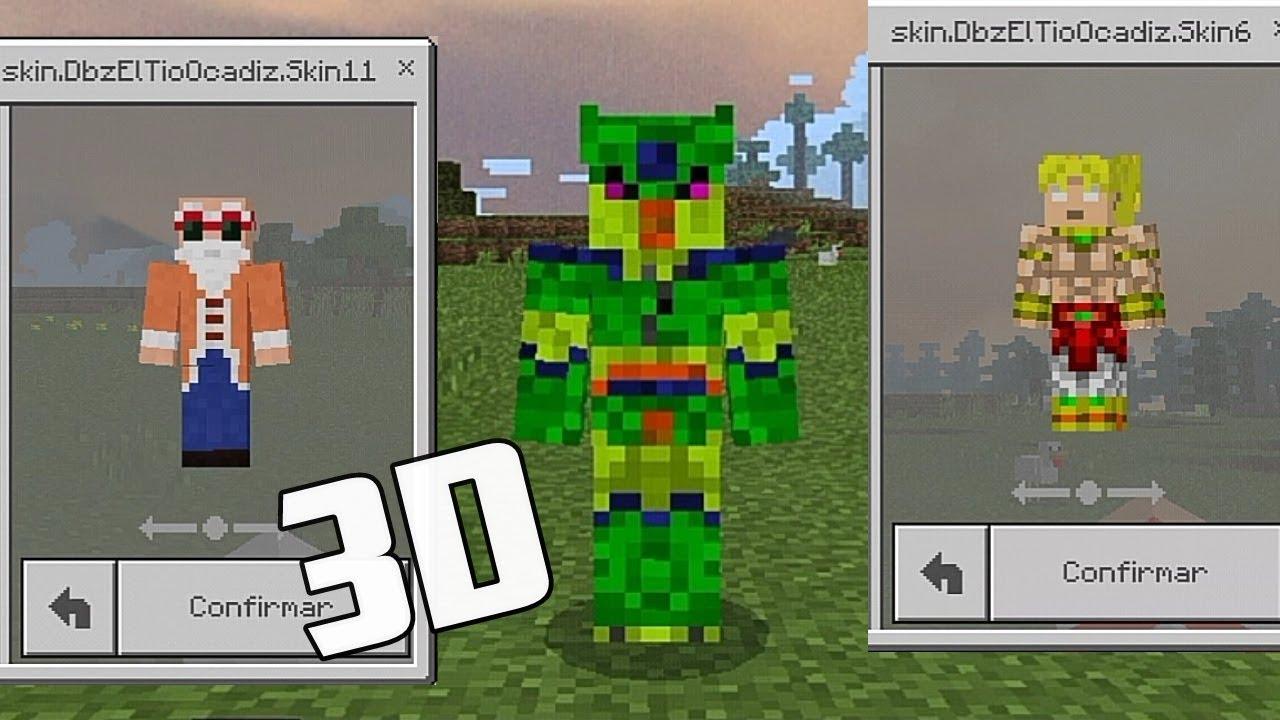 Minecraft PE SKINPACK COM SKINS DE DRAGON BALL Z Minecraft - Skins para minecraft pe broly