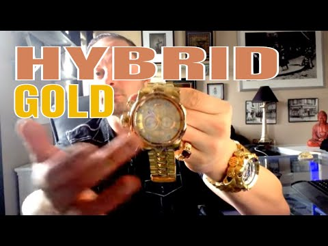 Invicta Watches Review : Invicta Venom Hybrid Watch Review Gold on Gold