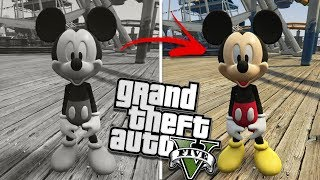 GTA 5 Mods - The Mickey Mouse Mod is a weird old timed classic mod ...
