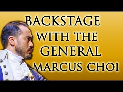 Backstage with George Washington (Marcus Choi) in Hamilton's 2nd National Tour