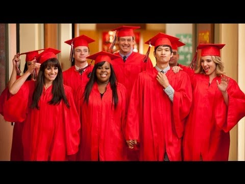 glee  goodbye review season  finale highlights  graduation rachel finn