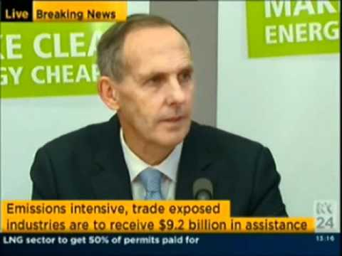 Australian Greens Press Conference Carbon Price