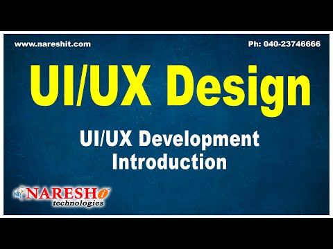 UI/UX Development Introduction| UI/UX Design Tutorials | Mr.Naveen